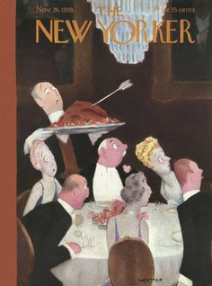 The New Yorker - Saturday, November 26, 1938 - Issue # 719 - Vol. 14 - N° 41 - Cover by : Leonard Weisgard