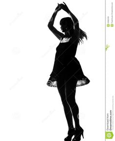 stylish-silhouette-woman-dancing-happy-23092430.jpg (1062×1300)