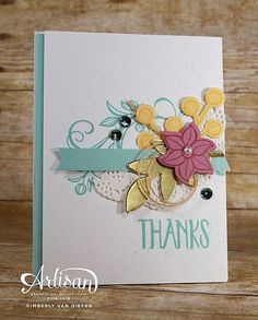 What are your FAVORITE embellishments to use on your cards? I have a few on this card! ❤️ #create #creative #stampinup #diy #handmade