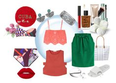 """""""Colourful in Cuba"""" by a-anja ❤ liked on Polyvore featuring Lipstick Queen, Too Faced Cosmetics, NARS Cosmetics, Bare Escentuals, Miguelina, MANGO, Dorothy Perkins, Emilio Pucci, Melissa and NOVICA"""