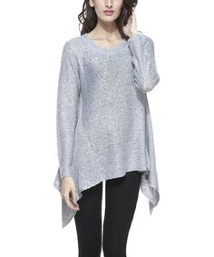 Another great find on #zulily! Gray Sequin Sidetail Tunic #zulilyfinds
