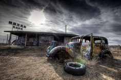 Ghost town in Conway, Texas