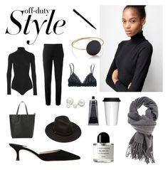 """""""Off duty"""" by leabo on Polyvore featuring Mode, Manolo Blahnik, Étoile Isabel Marant, Byredo, Sagaform, Lack of Color, Madewell, MANGO, Chloé und Theory"""