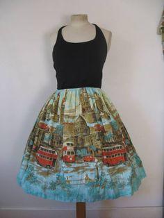 Double decker bus skirt courtesy of Vintage Hoards.