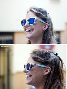 Gafas de sol bicolor con chalk paint spray