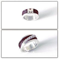 In memory of...Ring zilver met daarin verwerkt paardenhaar