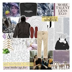 """""""i'd wrap myself in blankets—"""" by graham-almighty ❤ liked on Polyvore featuring Chanel, Vanity Fair, adidas Originals and 21 Men"""