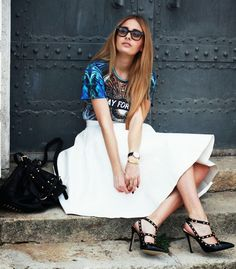 Oasap Blue Street-Chic 'Pray For Paris' Print Tee by The Pile Of Style