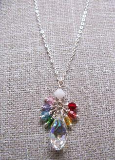 Swarovski crystal chakra briolette & sterling by reflectbytrink