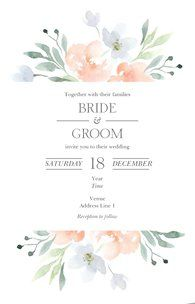 Design wedding invitations with Vistaprint! With hundreds of wedding invitation templates to choose from, there's something to suit all wedding themes and styles. Design your wedding invites now! Handmade Invitations, Custom Wedding Invitations, Wedding Invitation Templates, Wedding Stationary, Invites, Fantasy Wedding, Wedding Themes, Wedding Ideas, Marie