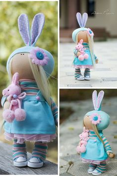 Baby doll toy Tilda doll Interior doll Art by AnnKirillartPlace