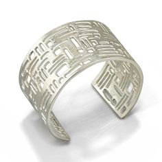 Visible Interest - Element Brushed Silver Wide Cuff, $725.00 (http://www.visibleinterest.com/shop-by-category/bracelets/element-brushed-silver-wide-cuff/la-corza/)