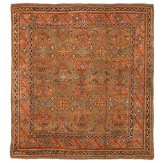 Antique Turkish Oushak | From a unique collection of antique and modern turkish rugs at http://www.1stdibs.com/furniture/rugs-carpets/turkish-rugs/