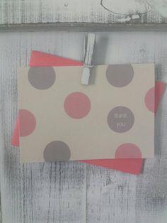 Thank You Notes / Polka Dot / Wedding Thank You Cards