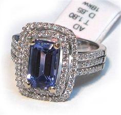 tanzanite in a double halo  #tanzanite #jewelry  $5273