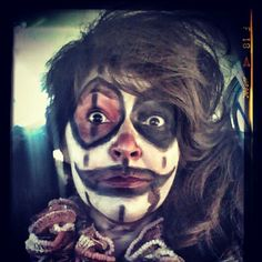 ME ON HALLOWEEN 2014** WENT TO WALMART ON MY WAY HOME** SCARED A KID SO BAD HE SCREAMED , CRIED & RAN BACKWARDS** LOL ** I GUESS SOME PEOPLE ARE AFRAID OF CLOWNS!!!! LOLOLOL