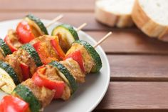 Low-Fat Grilled Chicken Kabobs Are Heartburn-Friendly
