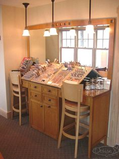 Have a make up station in a Spa for ladies so if they get a facial, all there make up is off and they can just come in the make up room and get ready to return to work or home.