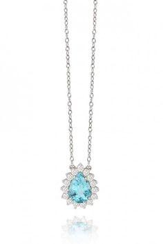 d47258a582797 A turmalina paraíba da Frattina em colar de ouro branco com diamantes  (preço sob…