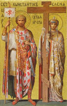 19th cent. mosaic of Constantine the Great and St. Helena (4th cent.). St. Isaac's Cathedral, St. Petersburg.
