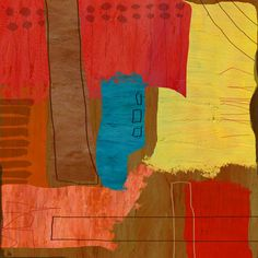 Rectangular Shapes 1 Painting Print on Wrapped Canvas