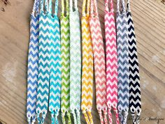 Rainbow Double Chevron Friendship Bracelets by BrandiisBoutique I love these!