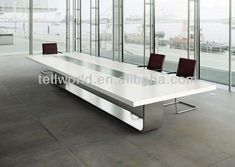 Artificial Stone Solid Surface Pure Acrylic Conference Table