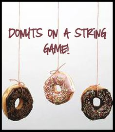 Donuts on a String game. Did it for Jake's 11th and the kids had so much fun!