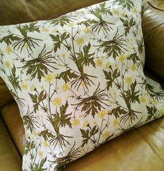 Buttercup fabric from the ultra talented Lauren Liess at Pure Style Home. Want these pillows for my family room! Luxury Interior Design, Interior Decorating, Boho Pillows, Throw Pillows, Lauren Liess, Family Room, Childhood, Textiles, Pure Products