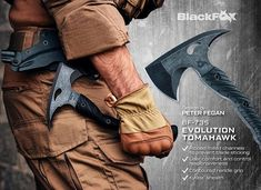The new Evolution Axe from our Blackfox line ! Ready solutions for profession and free time users…