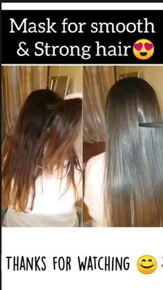 Hair Mask For Growth, Hair Remedies For Growth, Dry Hair Remedies, Homemade Hair Treatments, Diy Hair Treatment, Natural Hair Care, Natural Hair Styles, Long Hair Styles, Diy Hair Care
