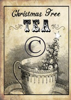 Christmas Tree Tea Panel by DownOnCrippleCreek on Etsy, $3.00