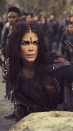 octavia the 100 Series Movies, Movies And Tv Shows, Tv Series, Avgeropoulos Marie, The 100 Poster, Lexa E Clarke, The 100 Characters, 100 Memes, Lexa The 100