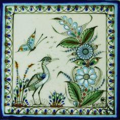 Ken Edwards Collection - La Garza y Mariposa – Mexican Tile Designs
