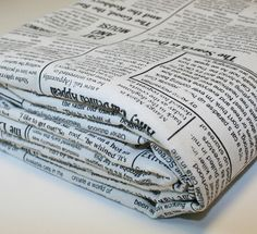 newspaper. FABRIC