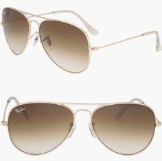 3aa10ba94fd RAY BAN AVIATOR RB3025 Sunglasses - Gold Brown 001 51 Medium (58mm)