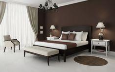 barna falfesték és kerek szőnyeg Bedroom Walls, Bedroom Wall Colors, Bedroom Color Schemes, White Bedroom, Home Decor Bedroom, Living Room Decor, Bedroom Brown, Bedroom Furniture, Design Bedroom