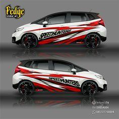 "Wrap design for Honda Jazz Original design by Alip Yuli ""Fedge"" Honda Jazz, Honda Fit, Car Stickers, Car Decals, Jazz 2016, Mitsubishi Lancer Evolution, Truck Design, Car Wrap, Cars And Motorcycles"