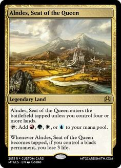 4 Color EDH Land Cycle Attempt 1.