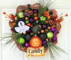 Mickey Mouse Pumpkin Wreath by SparkleForYourCastle on Etsy, $69.00