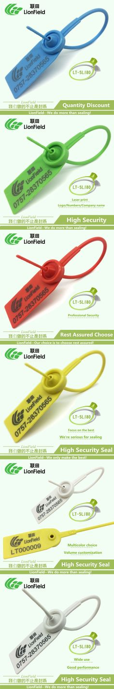 30pcs PP&PE tamper-proof plastic disposable seal anti-theft cable tie high security seal plastic seal 180mm long