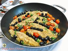 Sgombri in padella Fish Recipes, Low Carb Recipes, Recipies, Food Illustrations, Fish And Seafood, Kung Pao Chicken, Finger Foods, Meal Prep, Brunch