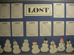 Lost Snowmen writing activity and craft