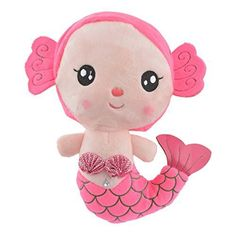 Pink Mermaid Plush Doll Little Girl Toys, Toys For Girls, Little Girls, Plush Dolls, Hello Kitty, Mermaid, Handmade Dolls, Pink, Character