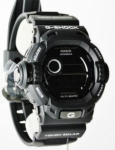 5f8b856eb23 Casio G-Shock Mens Limited Edition All-Black Solar Riseman Casio G Shock  Watches