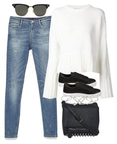 """""""Untitled #312"""" by lama19 ❤ liked on Polyvore featuring Zara, T By Alexander Wang, Ray-Ban, Topshop and Zimmermann"""
