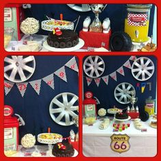 Vintage Route 66 Baby Shower Party Ideas In 2019 Cars
