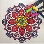 "3,925 Likes, 27 Comments - Mandala (@mandalapassion) on Instagram: ""By @mayu_with_arts  #mandala #mandalas #coloriageantistress  #mandalatime #mandalapassion…"""