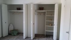 Full view of the wall-length closet
