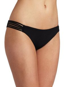 Hurley Women's Royal Spider Brief Bottom, Black, X-Small Hurley. $49.00. Moderate back coverage. Hand Wash. 89% Polyester/11% Spandex. Multi strap detail on side